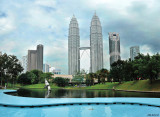 Another way to see the Twins -Panorama Kuala - V2