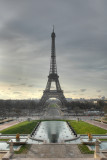 eiffel tower , classical view, HDR