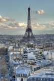 The Eiffel tower in HDR