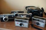 Kodak Instamatic 500, Instamatic 104 and Maxxum 650si