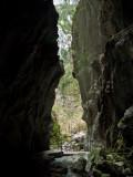 Desde la puerta de la gruta