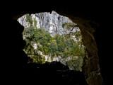 Desde dentro de la gruta