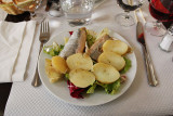 Pickled herring and potatos