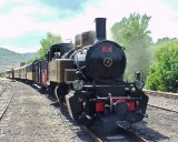 414 with tourist train