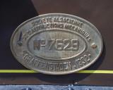 Manufacturer's plate