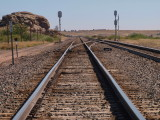 Tracks on Sherman Hill, WY