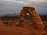 Delicate Arch just after sunset, 7:20pm