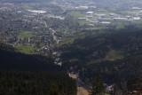 Liberec (Reichenberg) seen from Ještěd
