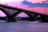 Peace Bridge Sunset Other Side