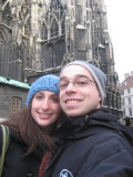 us outside the Cathedral
