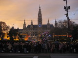 the Christmas Market, with the Rathaus in the background