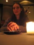 Francine at dinner at the Do & Co restaurant