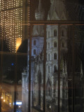 view of the Cathedral from inside the Do & Co bar