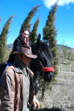 Francine riding a horse!