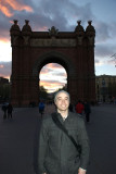 me in front of the Arc de Triomf