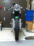 1224 Frontal view showing how narrow the bike is