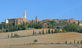 The beautiful town of Pienza, viewed from the grounds of 'Le Traverse'