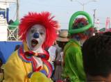 Clown at Bridgetown Market