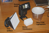 Flash diffuser test