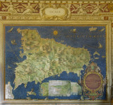 Map of Sicily in the Vatican Library