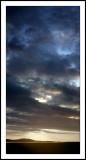Sunset vertical pano