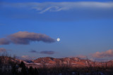 Blue Moon setting over the Rockies