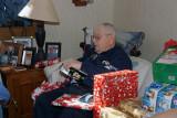 Grandpa opening his digital camera