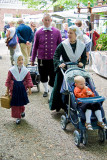 family in traditional Groningen attire