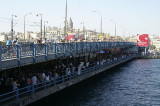 the Galata bridge