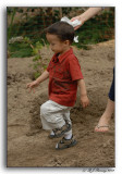My Grandson Marching Off to the Dirt Pile