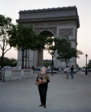 My mother at the Arc d'Triomphe
