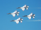 U.S. Air Force Thunderbirds in a Diamond Formation
