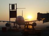 Beijing airport sunrise