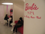 the Barbie Spa at Shanghai's new Barbie Flagship store on Huai Hai Road in the French Concession