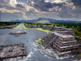 Sun Pyramid and Valley of the Death from Pyramid of Moon, Teotihuacan