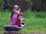 Family On Fishing, Tortuguero Channels