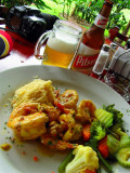 Light Lunch With Miniature Shrimps, Arenal Volcano