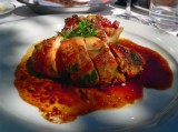 Pheasant Fillet Stuffed With Chorizo And Spinach, Arenal Volcano