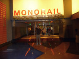 Me standing at the entrance to the monorail that goes up and down the Las Vegas strip.