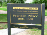 Franklin Pierce lived in a substantial two-story frame and clapboard house, now called the Franklin Pierce Manse.