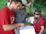 Jose Alfaro Explaining the Map of Los Corredores
