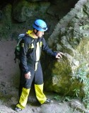 Enzo at Cave Entrance
