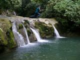 Jose Gilbert Leaps Water Fall