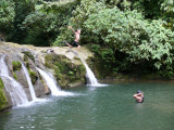 Scott Leaps Water Fall