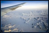 At 38000 ft. between Alaska & Canada approximately over Wrangell-St. Elias Nat Pk.