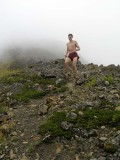 Keith on a mountain training run on Rainbow Peak