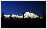 Denali & moonrise