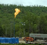Flaring a well. PGE