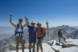 Three Weinholds on summit of Mt Whitney.