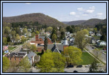 View from Courthouse steeple-bounded by N. Main & N.East Streets
